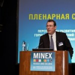 Brent Horochuk delivers presentation at MINEX 2010